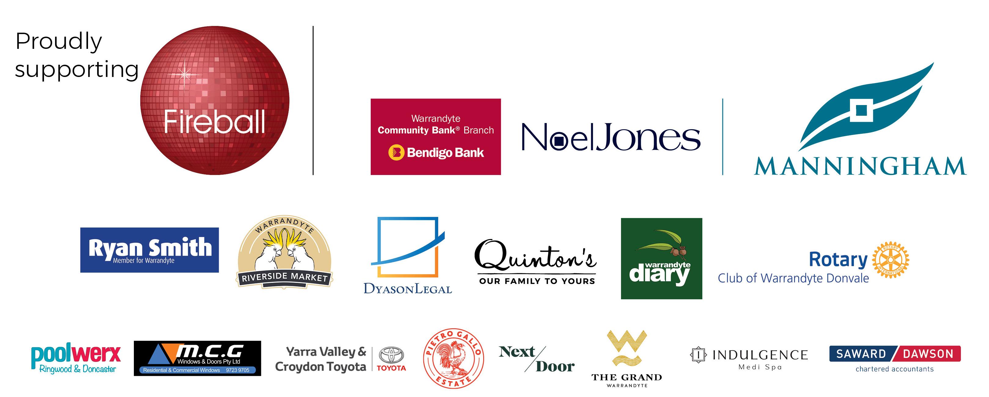 Mayoral Fireball Sponsor Logos