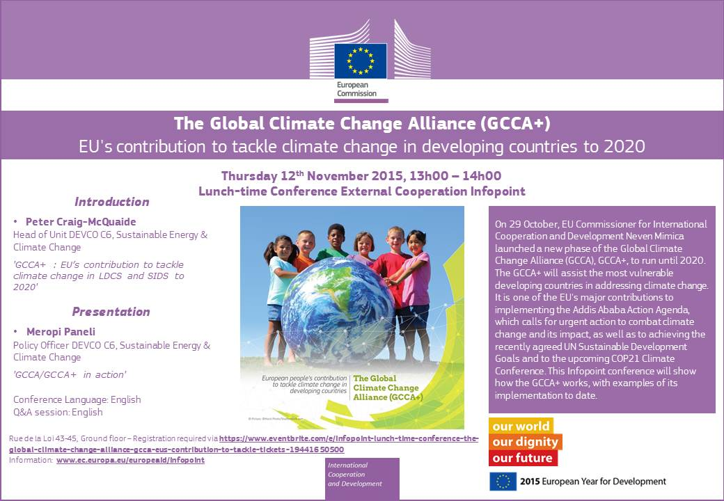 InfoPoint Lunch-time conference: The Global Climate Change ...
