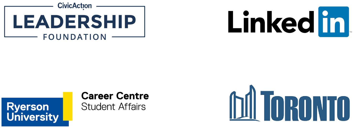 CivicAction Leadership Foundation, LinkedIn Canada, City of Toronto and Ryerson University