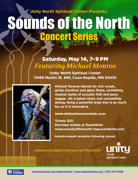 Flyer for Sounds of the North featuring Michael Monroe