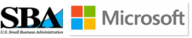 SBA and Microsoft logo