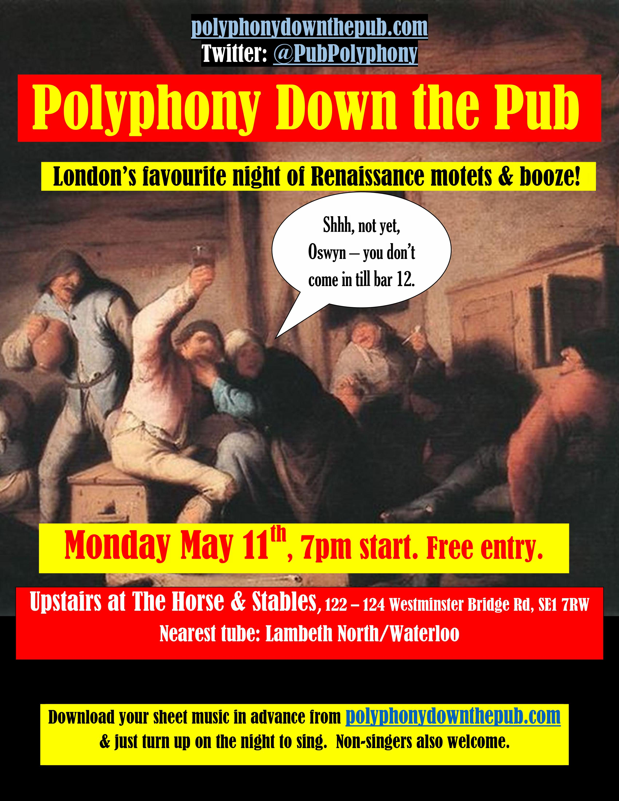 Polyphony Down the Pub 9 poster