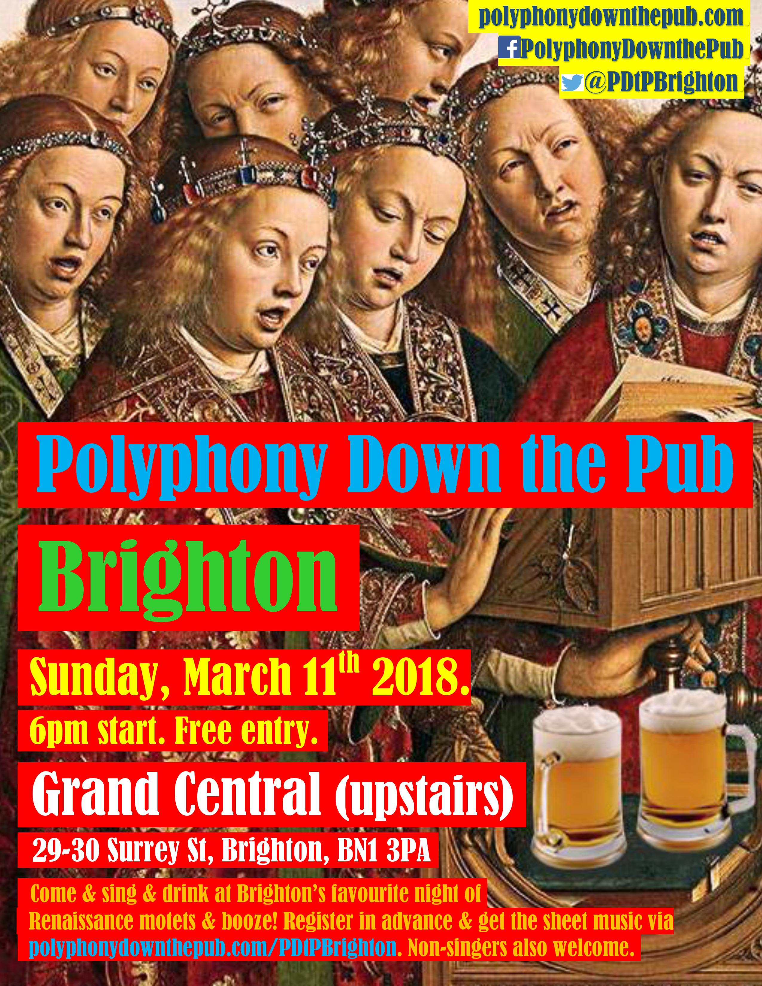 PDtP Brighton March 2018 poster