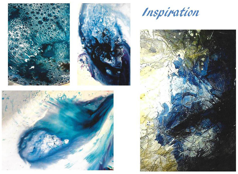 Artist inspiration boards by Nicky Simpson