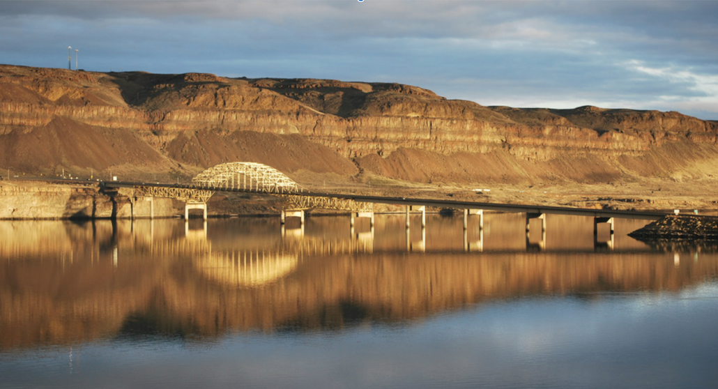 Columbia River Bridge as seen from Vantage