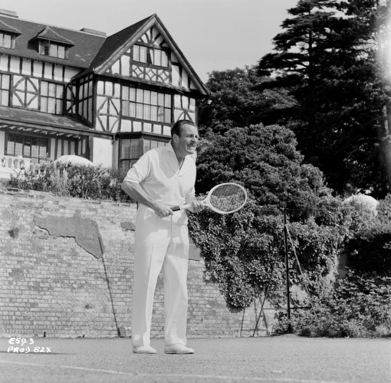 Terry Thomas on the Tennis Court