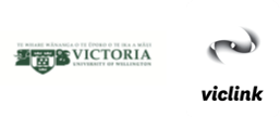 Logo's for Victoria University and Viclink
