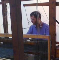 Dr Dan Coughlan at a loom