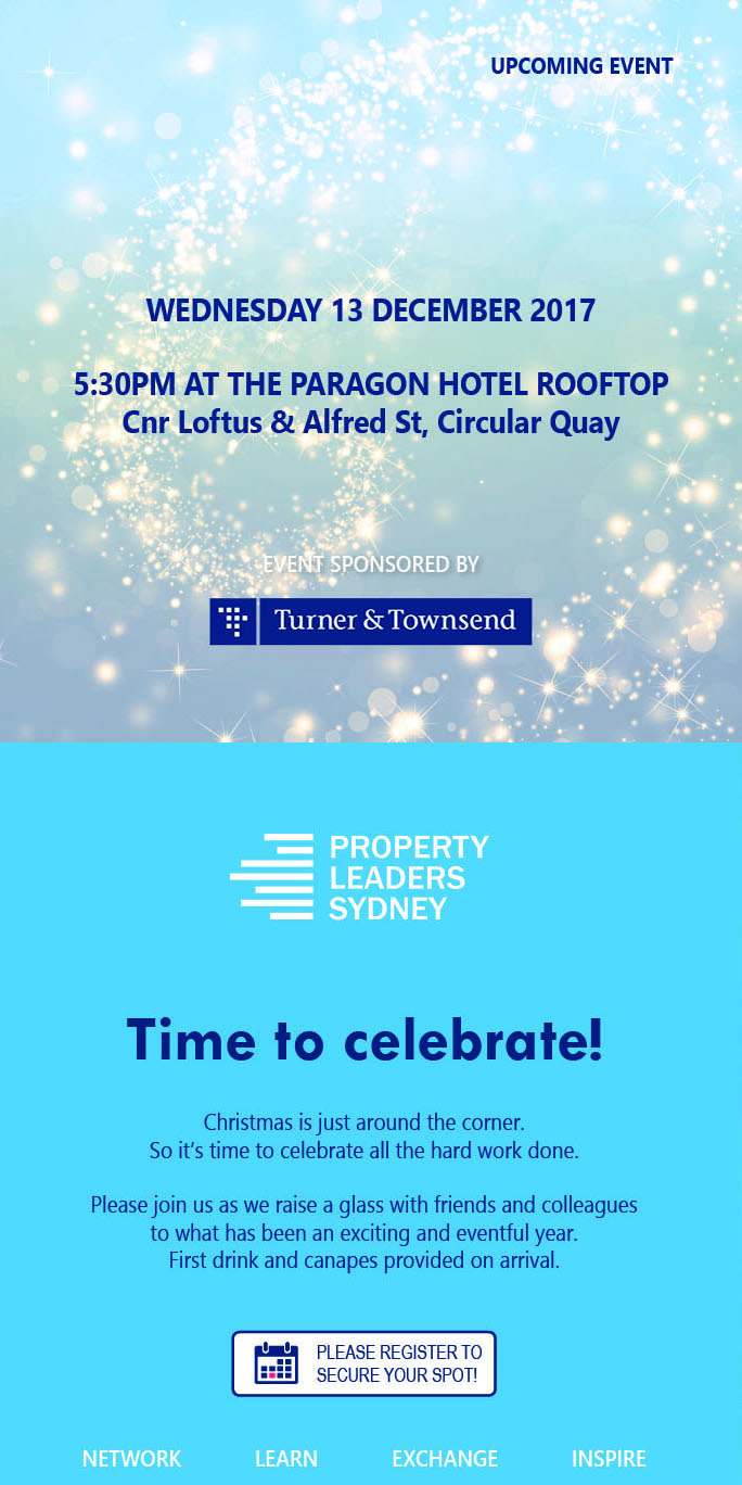 Property Leaders Sydney Christmas Party Invitation