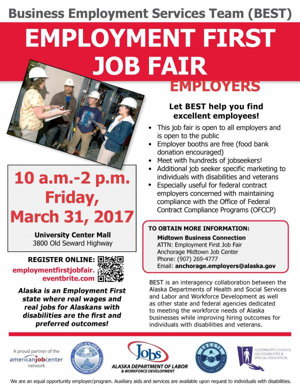 Employment First Job Fair Flyer