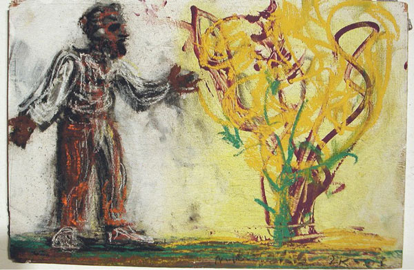 Milo Reice - Moses and the Burning Bush study, 2005