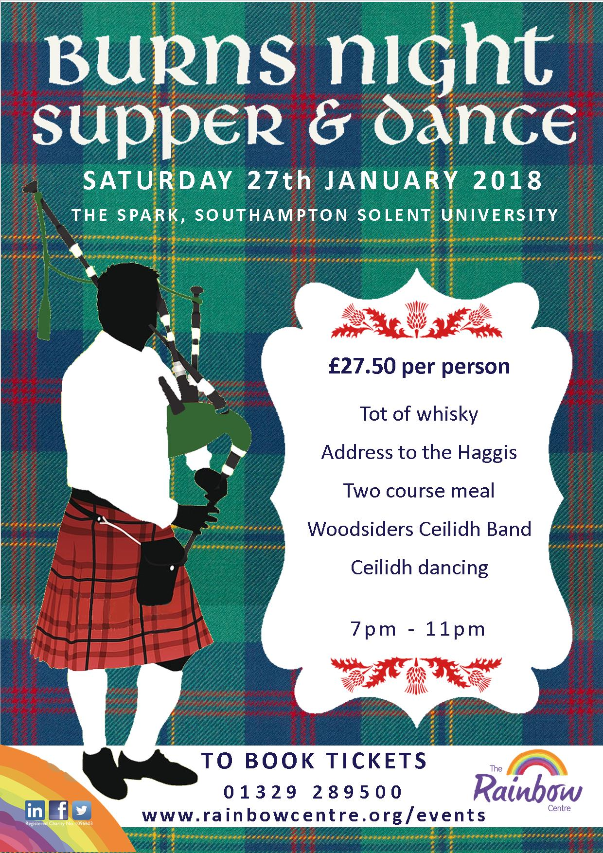 Burns Night Supper & Dance event Southampton 2018