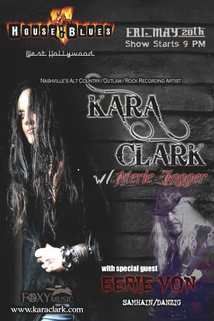 Kara Clark Performs Live at House of Blues in LA on May 20