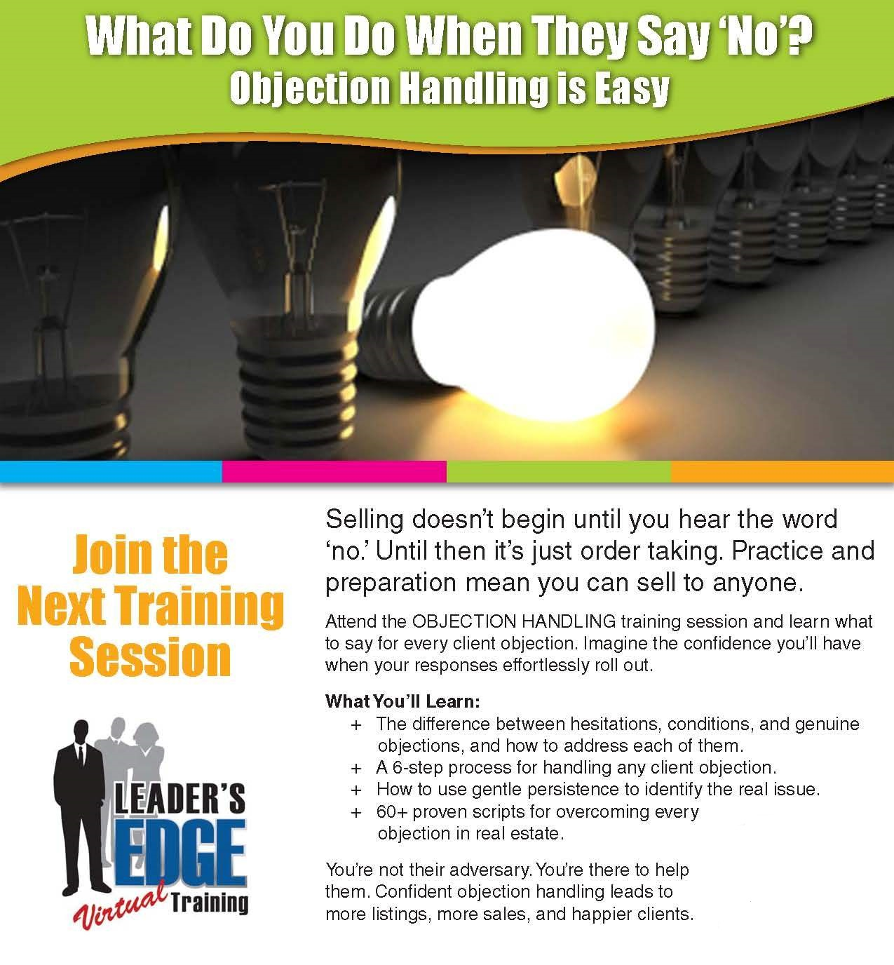 Chris Leader's Objection Handling Training Facilitated by Eric Eaton