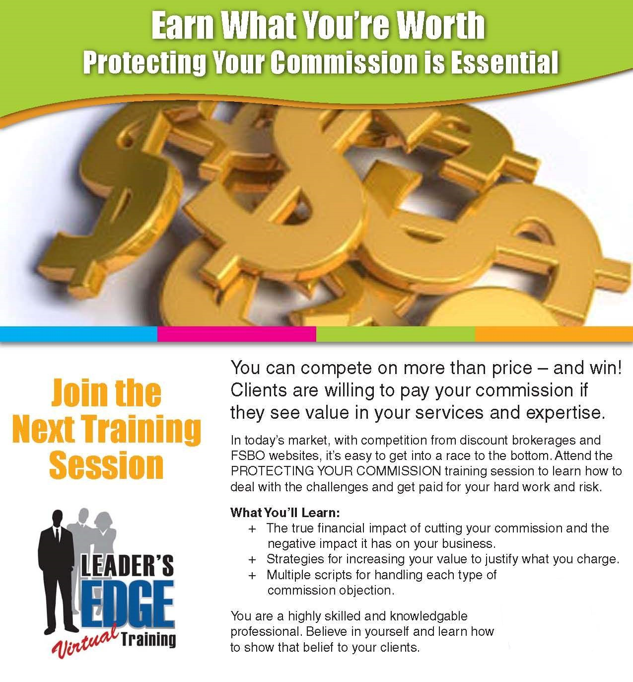 Chris Leader's Protecting Your Commission Training Facilitated by Eric Eaton