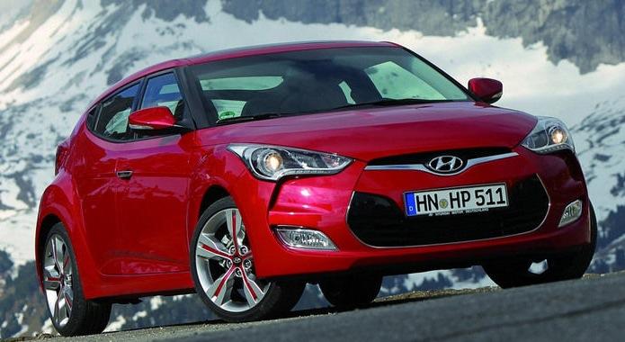 Red Hyundai Veloster