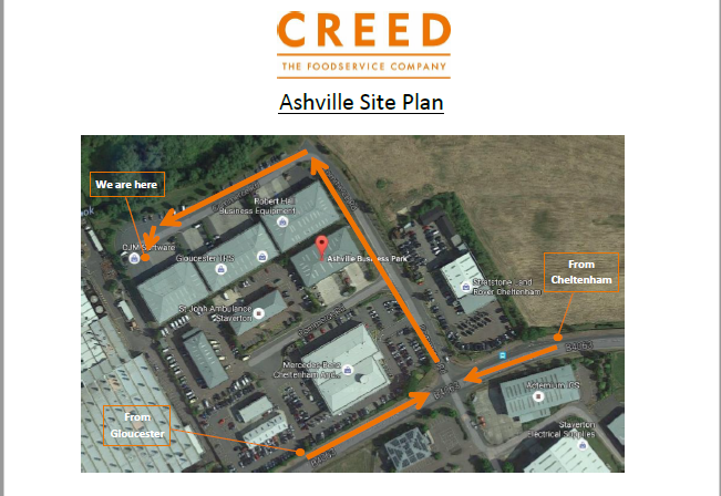 Map of the Ashville Site