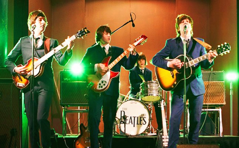 The Fab Beatles performing