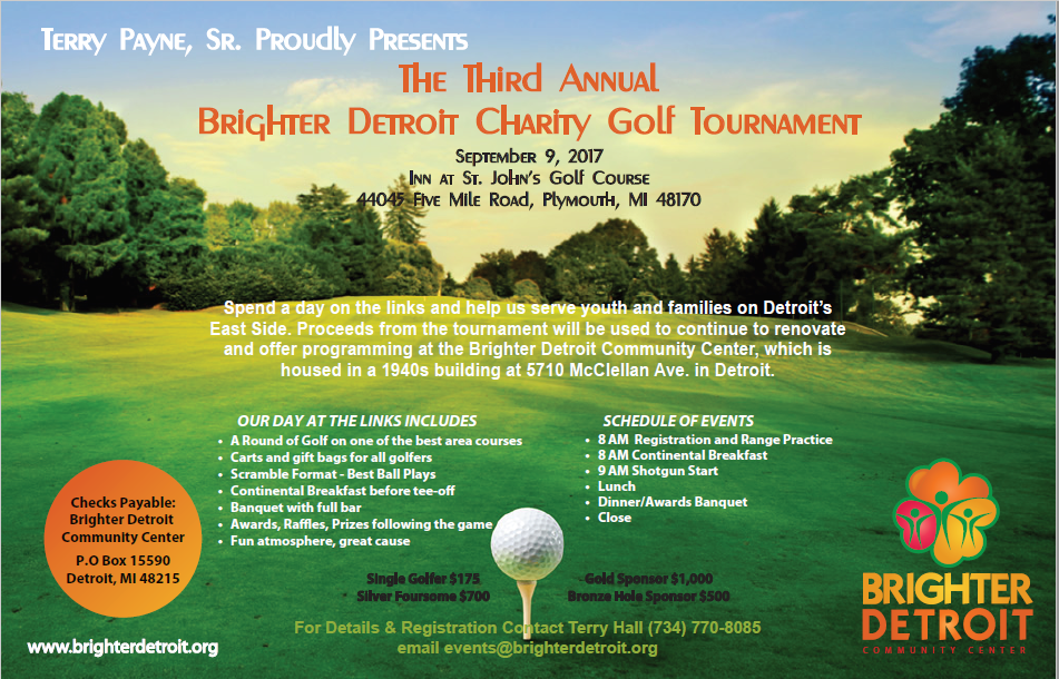 Brighter Detroit 3rd Annual Charity Golf Outing