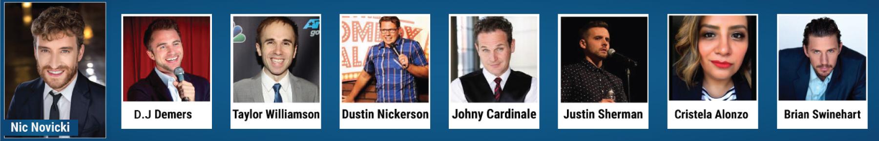 Comedian Lineup Banner