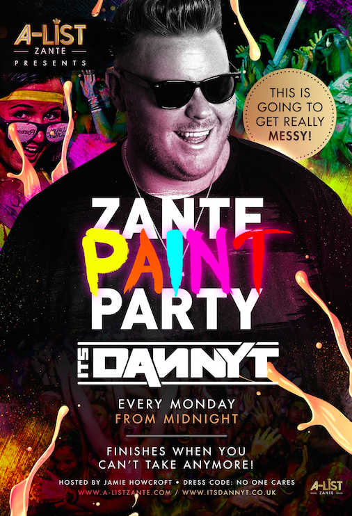 Danny T Paint Party Zante