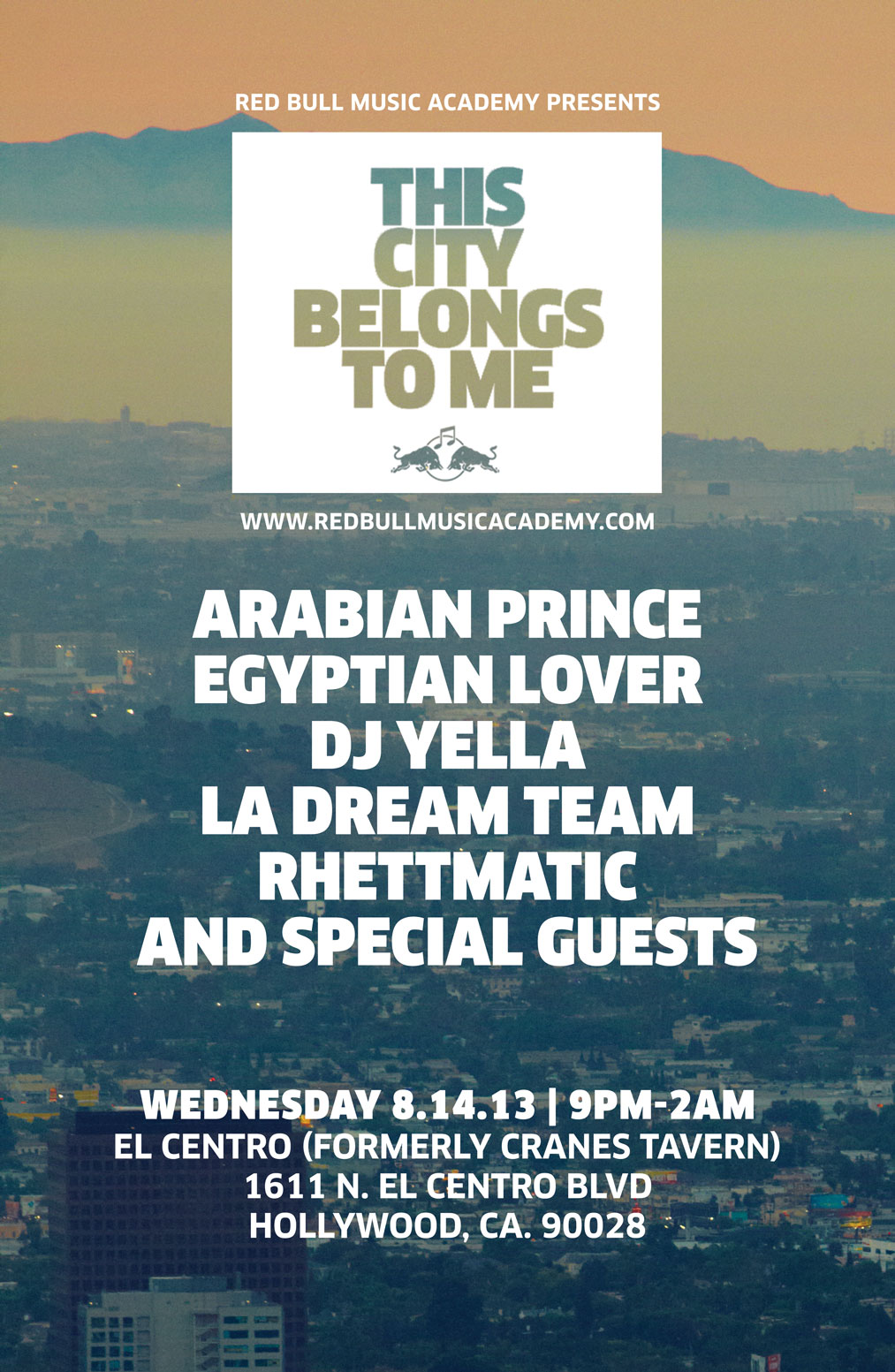 RBMA This City Belongs To Me - August Flyer