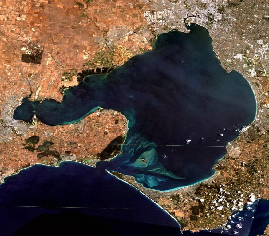 port phillip satellite image