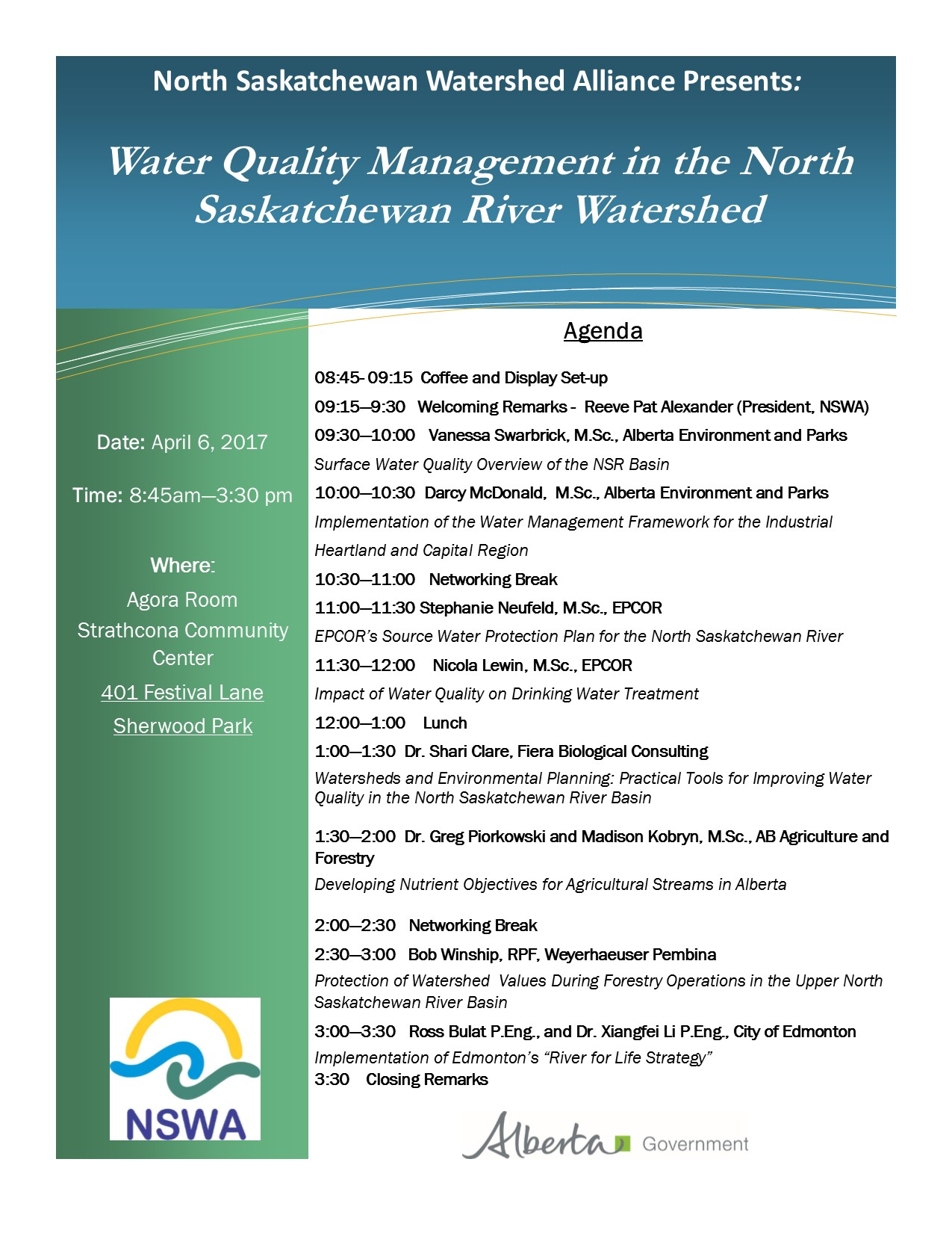 Water Quality Forum Agenda