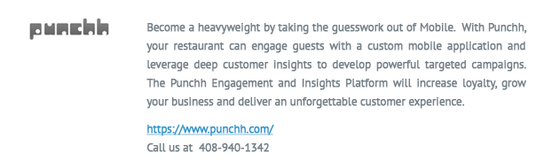 punchh logo and info