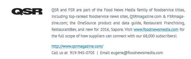 qsr logo and info