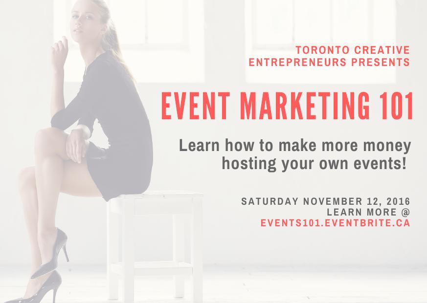 Event Marketing workshop Toronto