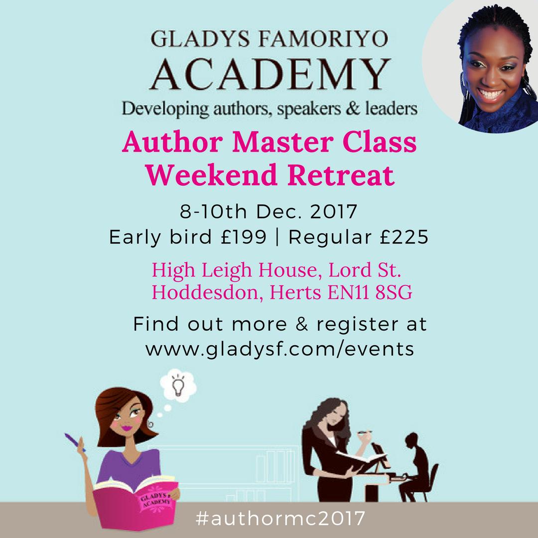 author master class weekend retreat Grace Gladys famoriyo