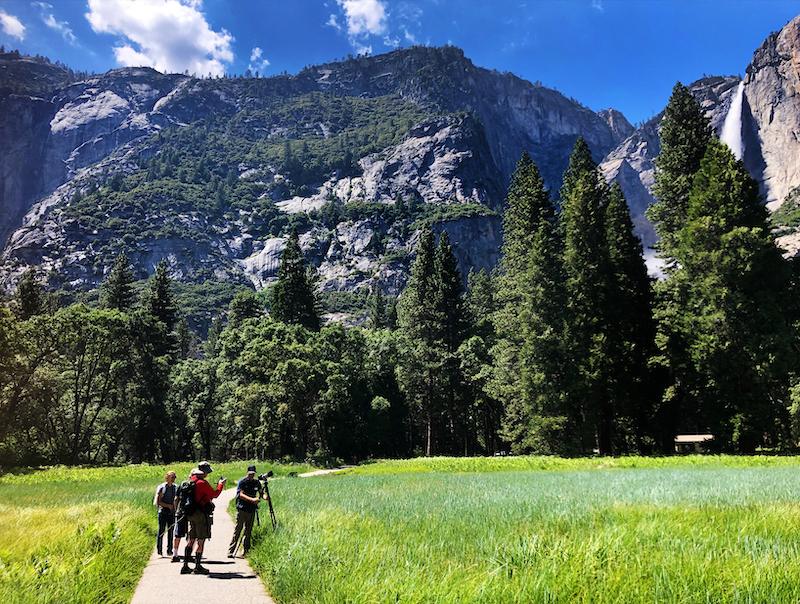 walking around beautiful yosemite valley