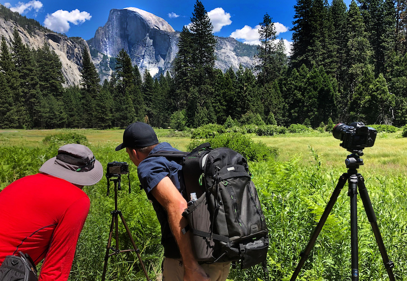 practicing histogram techniques while photographing half dome