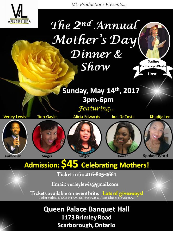 VLP PRESENTS TO YOU A MOTHERS DAY DINNER AND SHOW