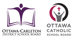 Ottawa Carleton District School Board and Ottawa Catholic School Board logos