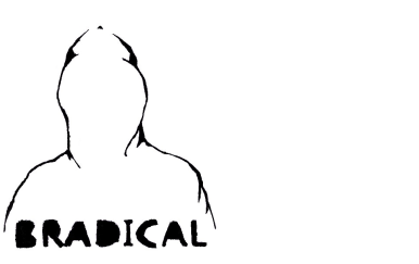 Bradical logo, a hooded figure