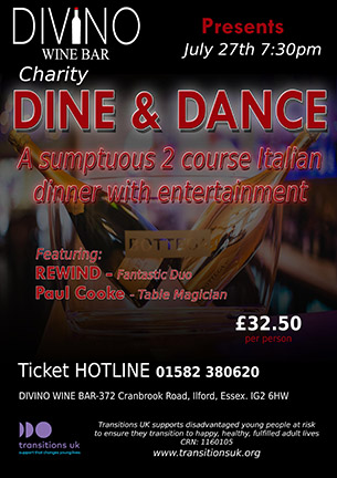 Dine and dance poster