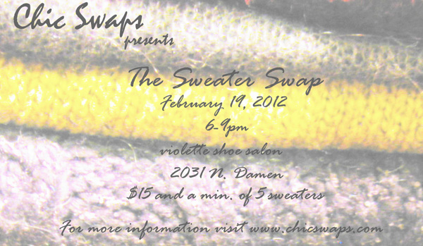 Chic Swaps presents The Sweater Swap