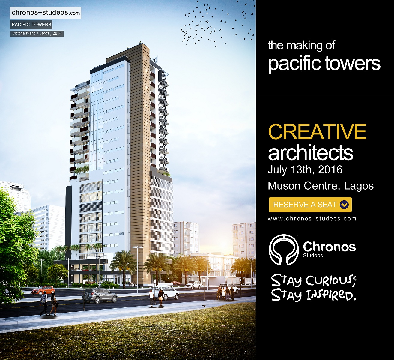 We will also showcase how we made the Victoria Island 'Pacific Towers' 3D visualization