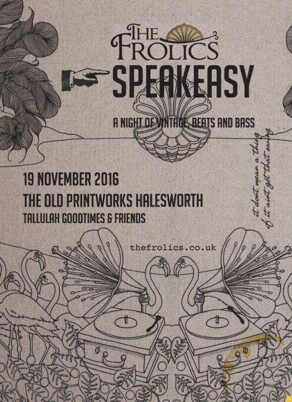 Frolics Speakesasy Flyer