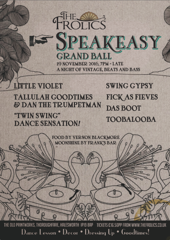 Frolics Speakesasy Flyer