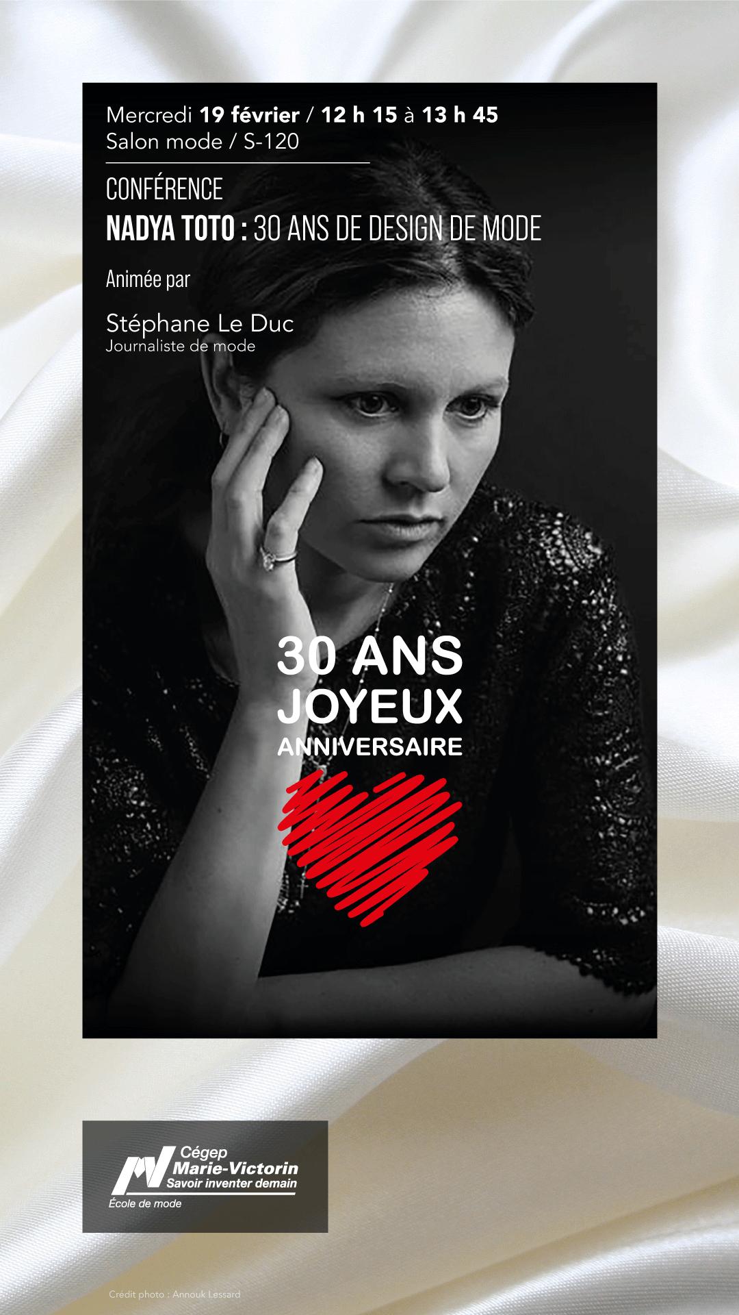 Nadya Toto : 30 années de design de mode
