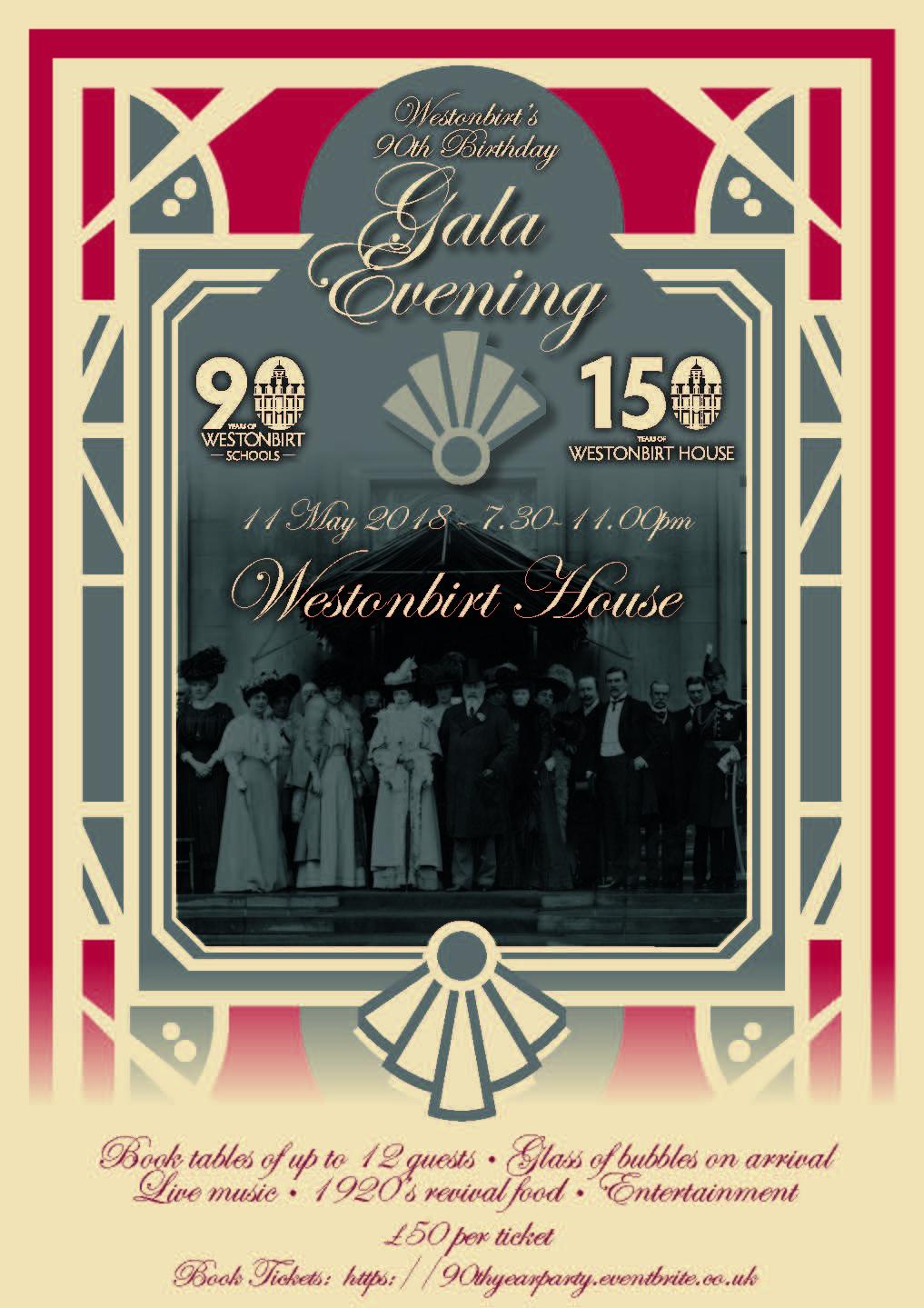 Westonbirt 90th Birthday Gala Evening