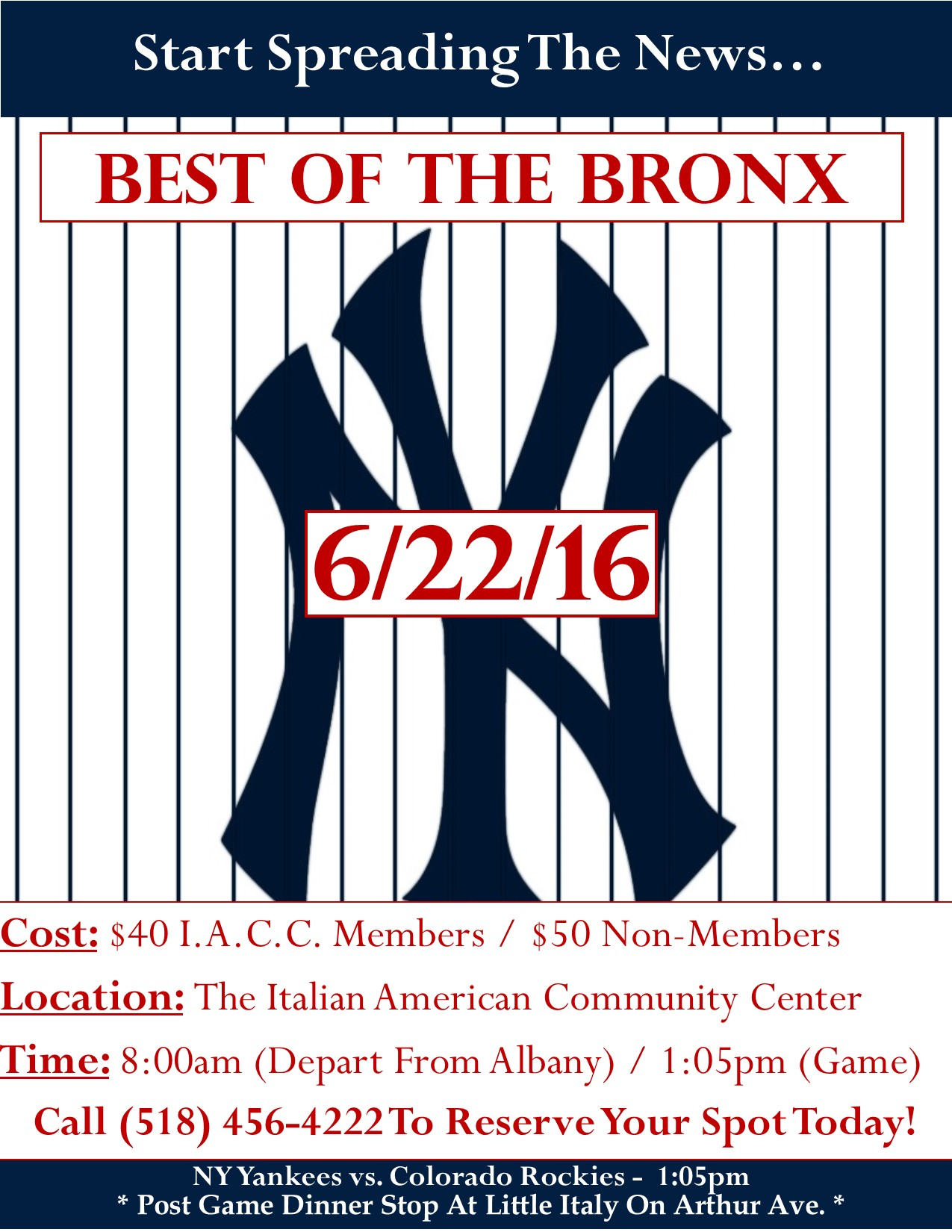 Best Of The Bronx Bus Trip