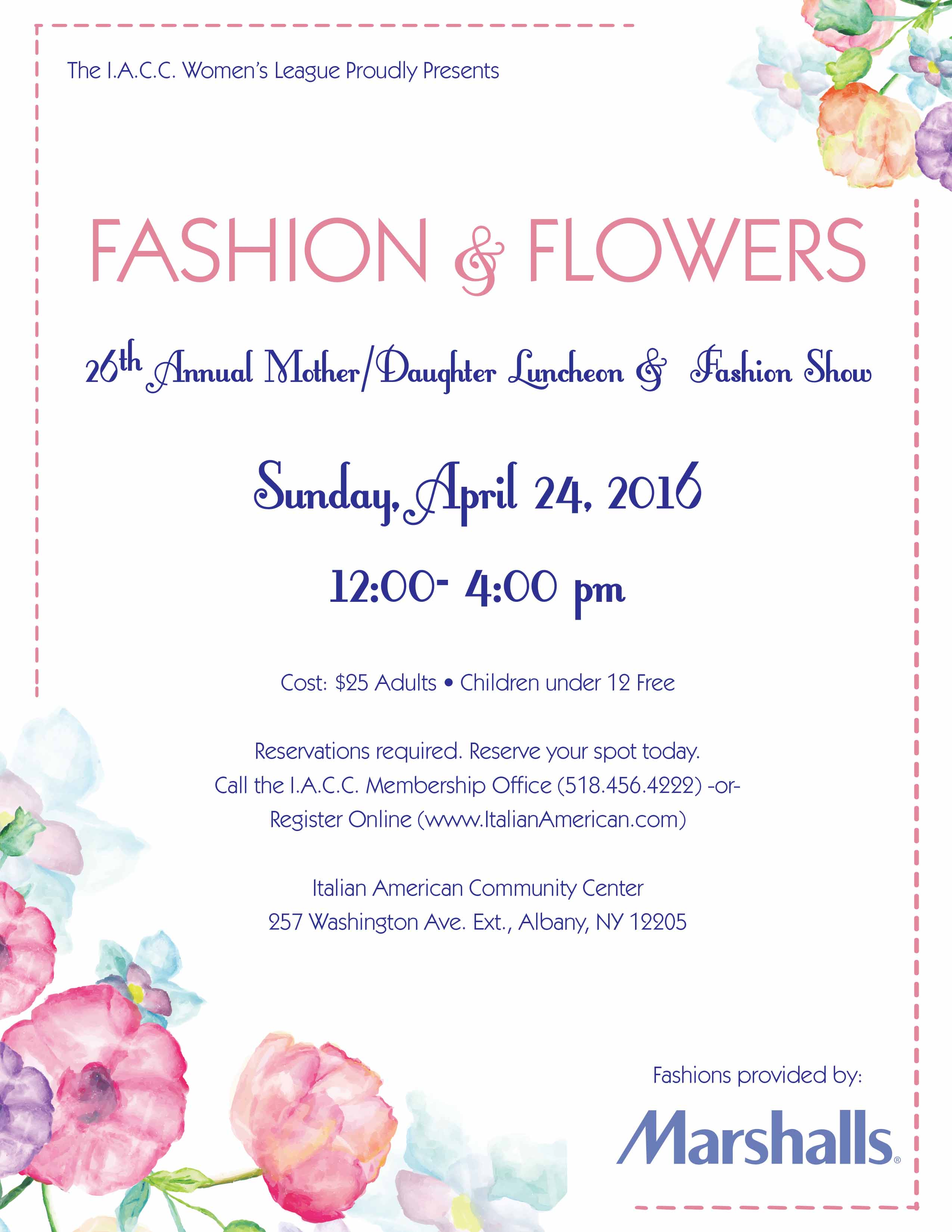 Fashion & Flowers - 2016 Mother Daughter Luncheon & Fashion Show