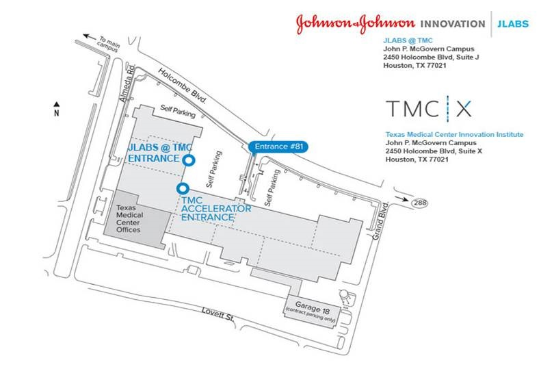JLABS Houston Parking Map