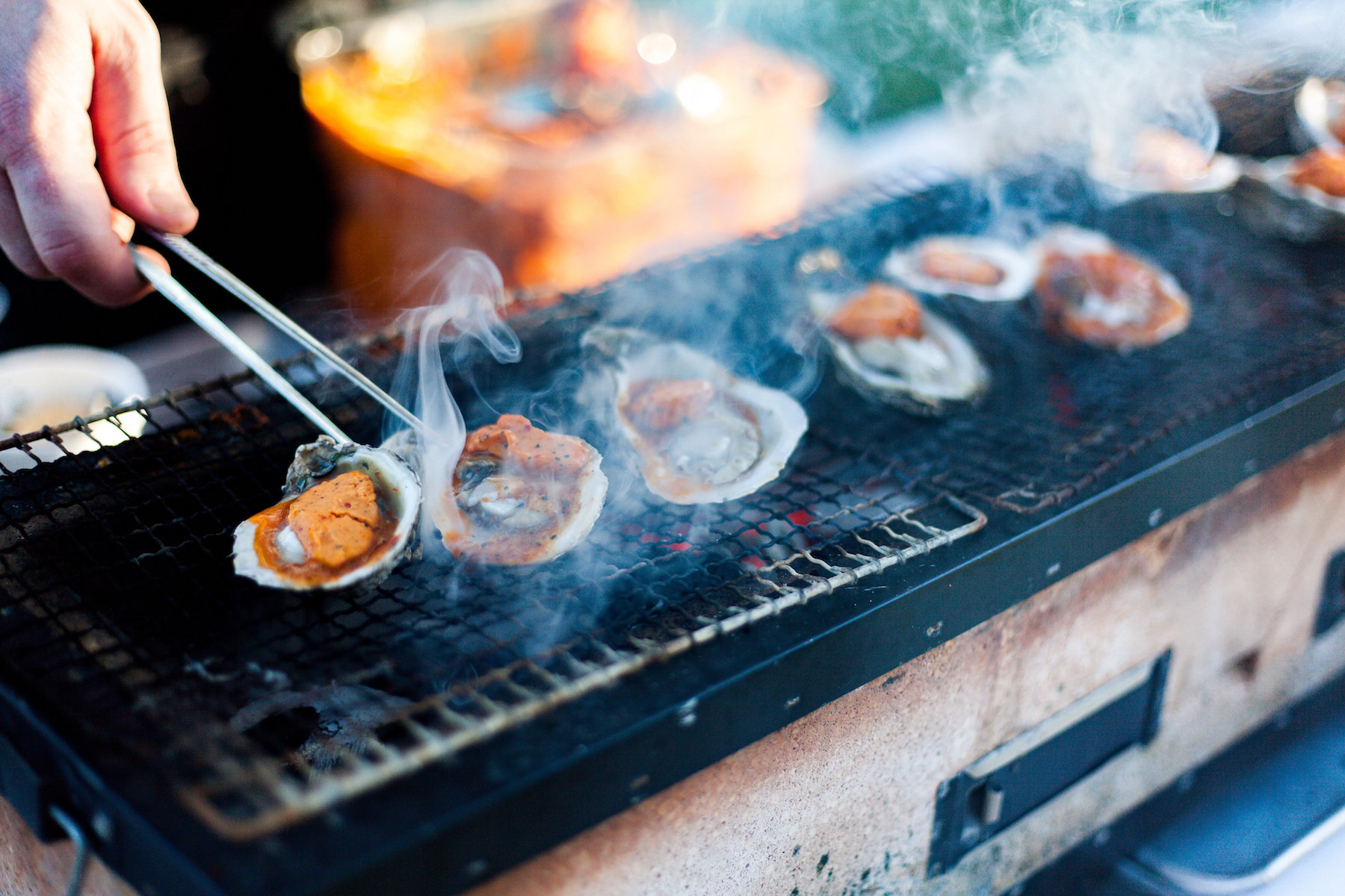 Chargrilled Oysters at Peat & Pearls 2017 Grand Tasting Event