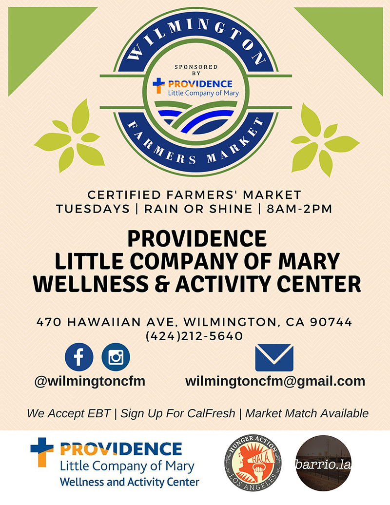 Wilmington Farmers Market at the Providence Community Health & Wellness Center - every Tuesday, from 8am to 2pm