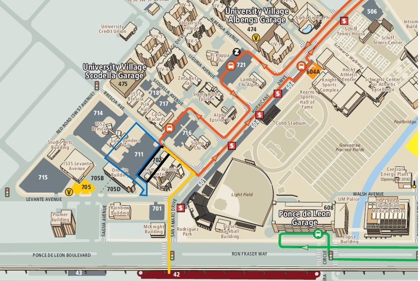 Gray Zone Parking Lot Map
